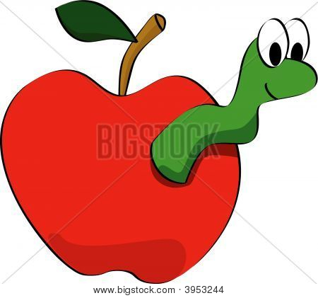 Apple Worm Clipart.