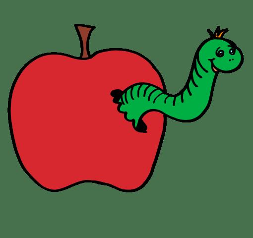 Apple worm clipart » Clipart Portal.