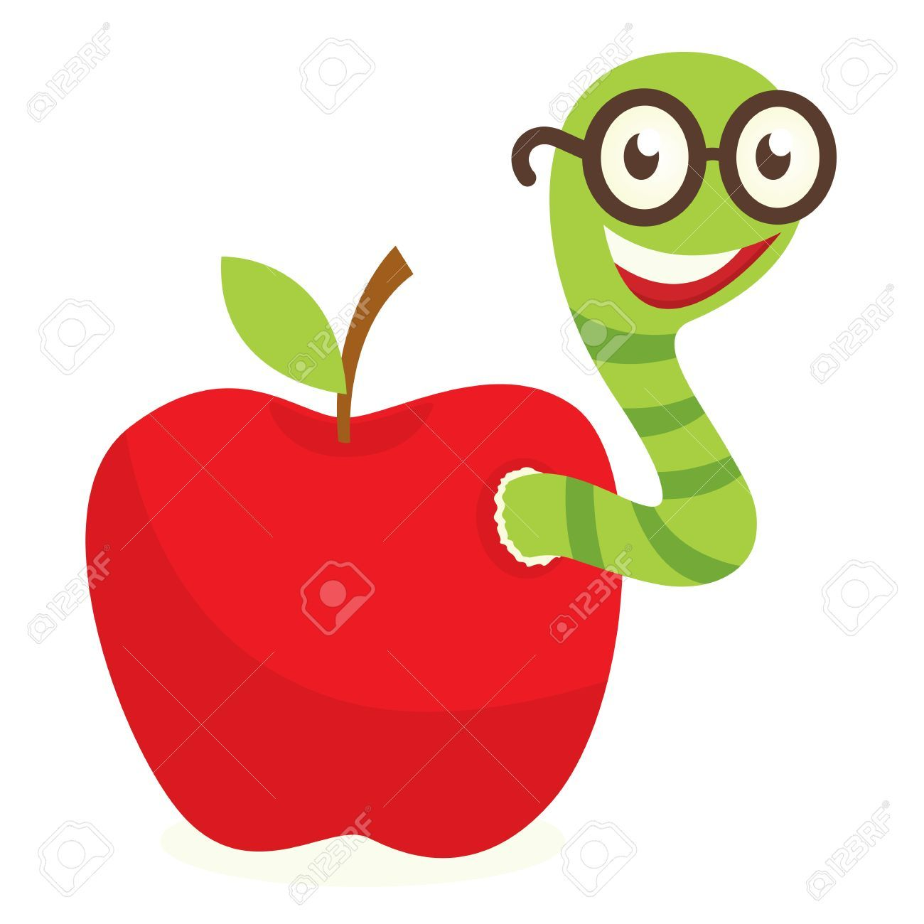 Apple with worm clipart 6 » Clipart Portal.