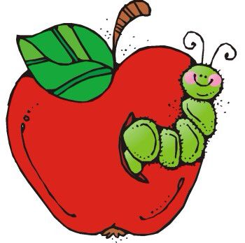 Apple with worm.