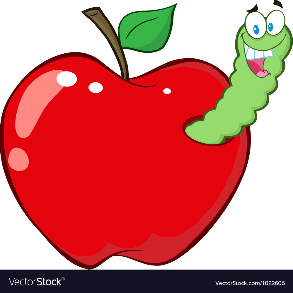 Worm In Red Apple.