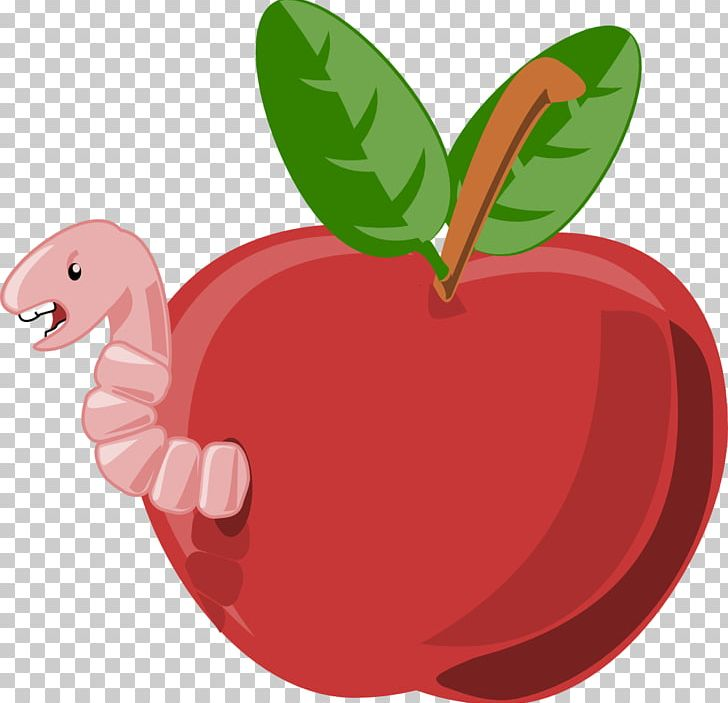 Cartoon Apple PNG, Clipart, Animation, Apple, Apple Worm.