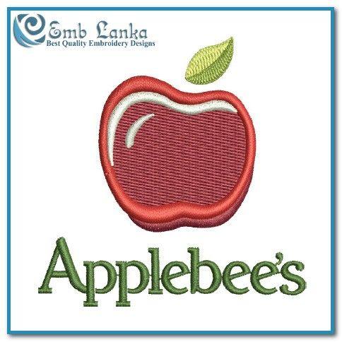 Applebee\'s Logo 2 Embroidery Design.