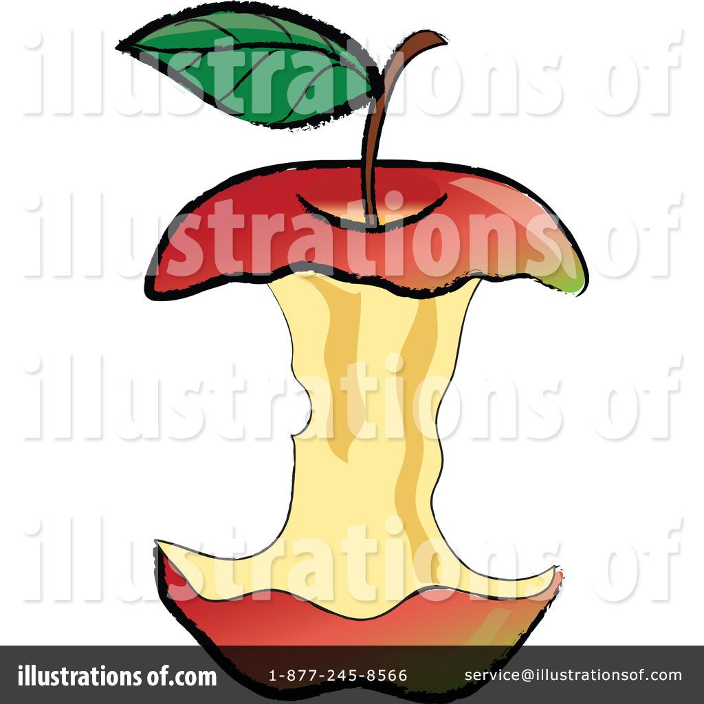 Apple Core Clipart #1.