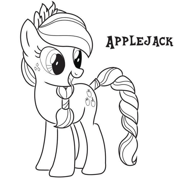 Applejack Coloring Page.