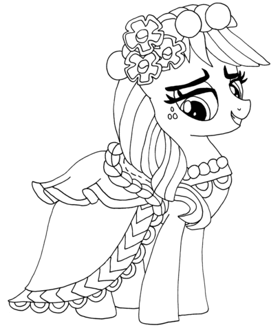 My Little Pony Applejack coloring page.