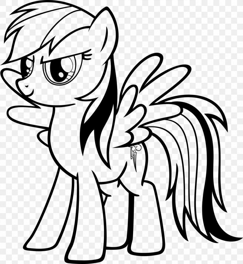Rainbow Dash My Little Pony Applejack Coloring Book, PNG.