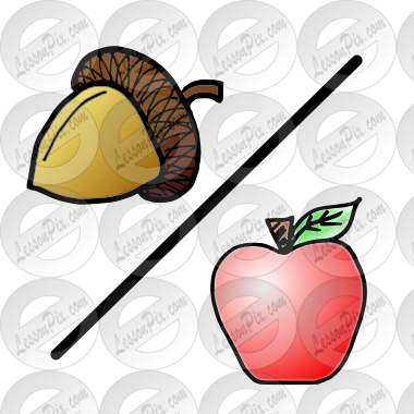 acorn/apple Picture for Classroom / Therapy Use.