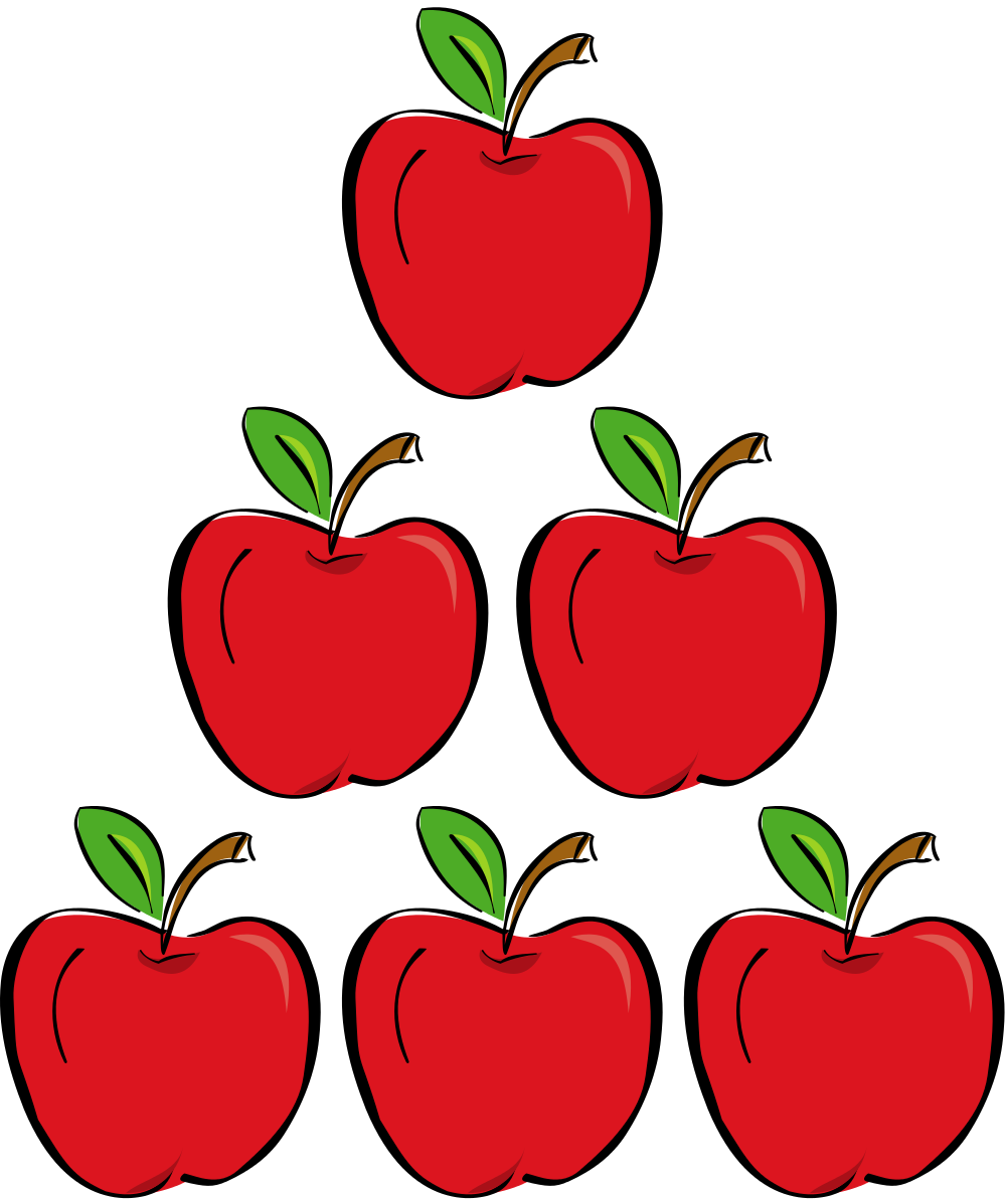 Five Apples Clipart.