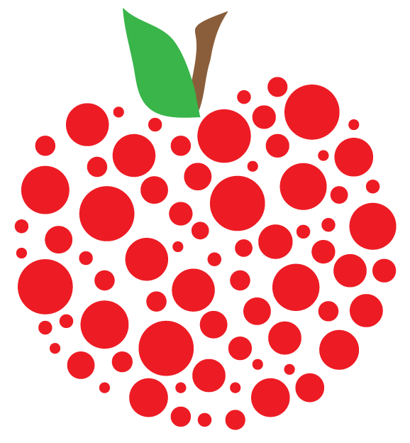 Apple banner clipart.