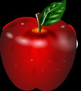 Apple Clip Art Banner.