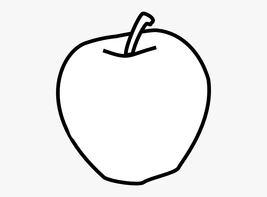 Apple Black And White Clip Art At Clker.