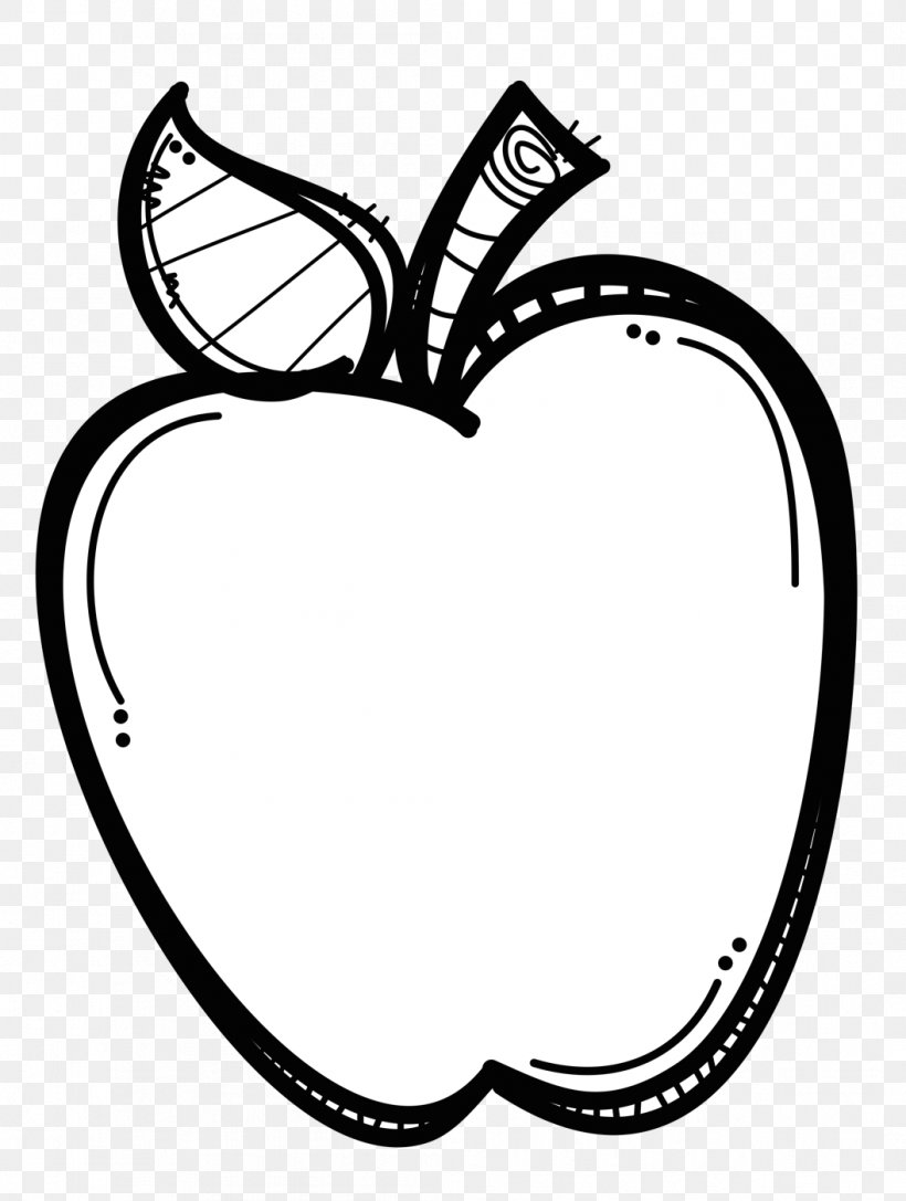 Black And White Apple Clip Art, PNG, 1056x1400px, Black And.