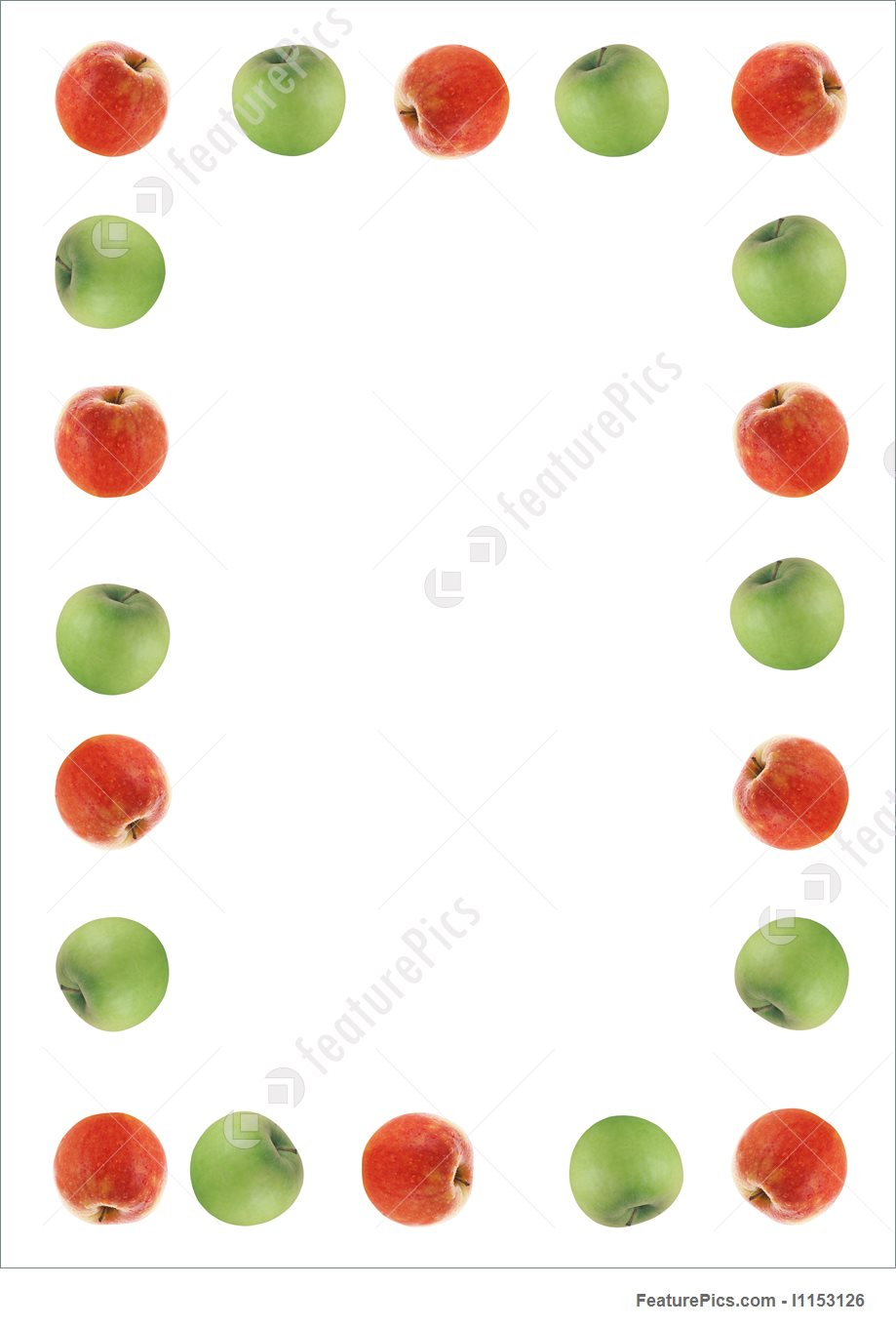 Red And Green Apple Border Photo.