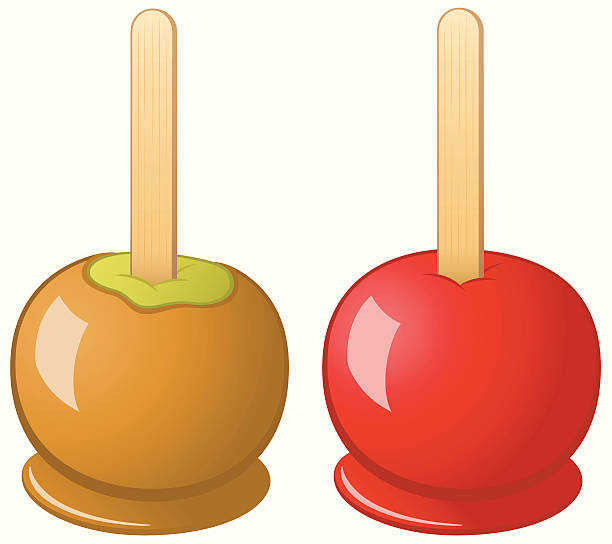 Caramel Apples Clipart.
