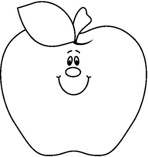 Apple clipart black and white 2 » Clipart Station.