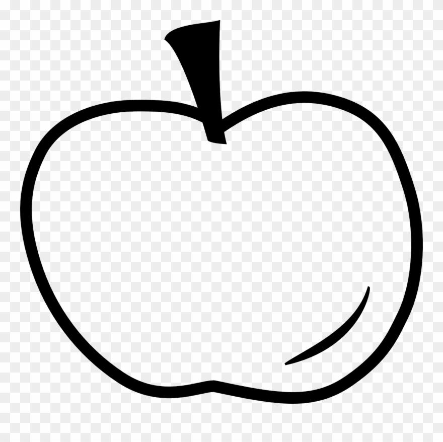 Apple Outline Clip Art 229005.