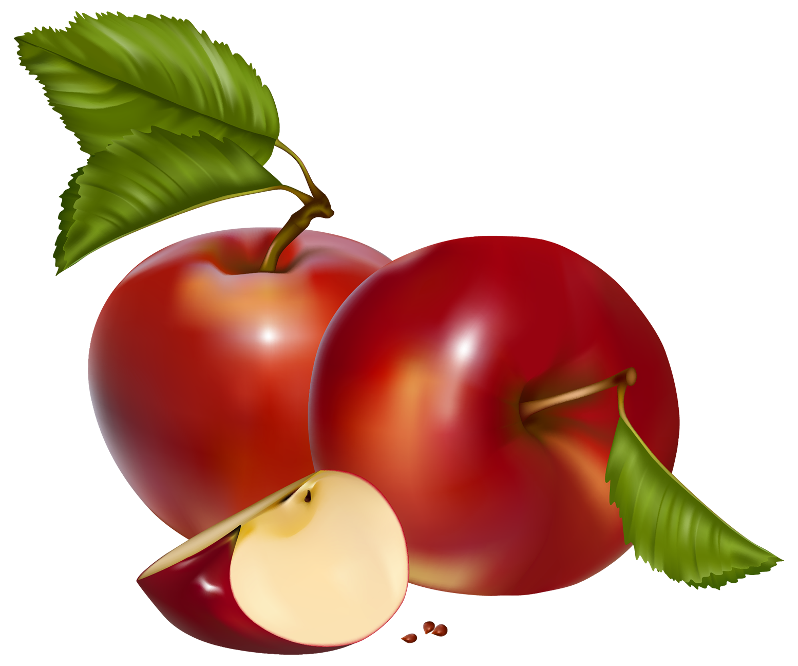 Red Apples PNG Clipart.