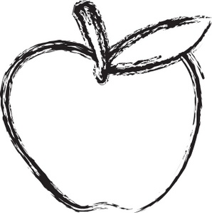 Basket Of Apples Clipart Black And White.