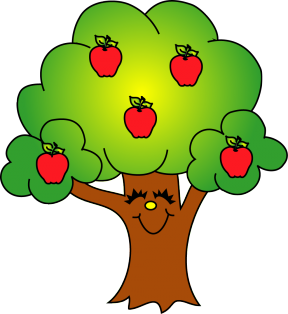 Apples Falling Out Of A Tree Clipart.