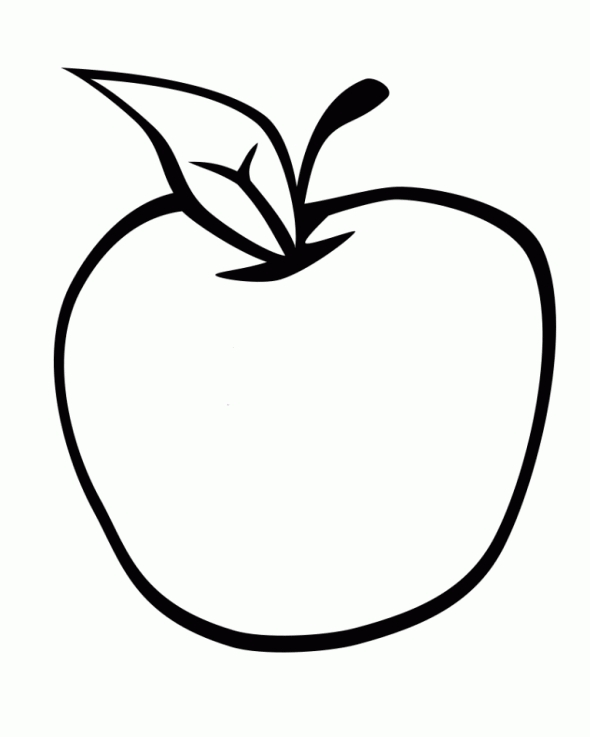 Apple Clipart To Color.