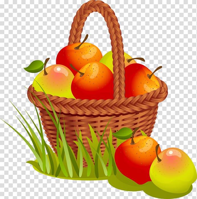 Agriculture Farm Illustration, Autumn apple harvest.