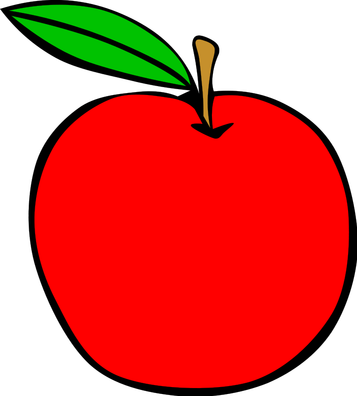 Simple Fruit Apple Clip Art Download.