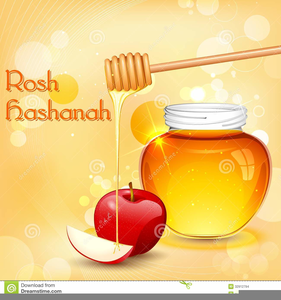Apples And Honey Clipart.