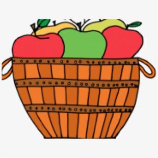 Basket Of Apples Png.