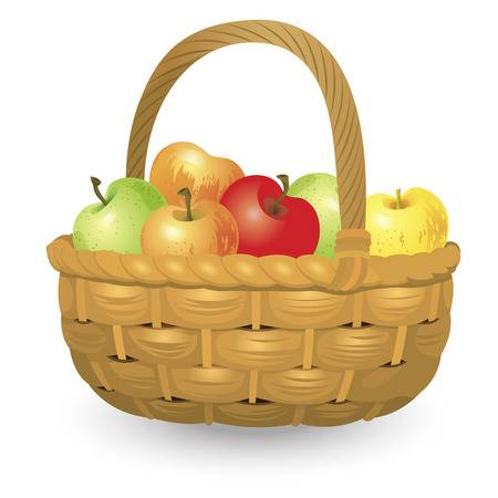 7,225 Apple Basket Stock Vector Illustration And Royalty Free Apple.