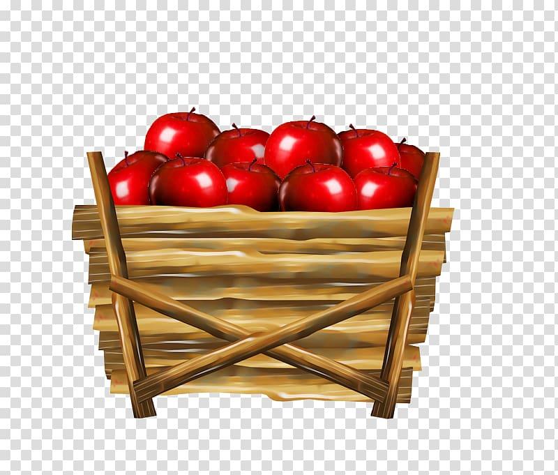 Apple Basket , Basket of apples transparent background PNG clipart.