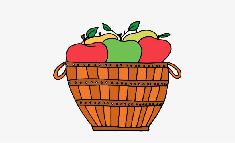 Clipart Apple Basket.