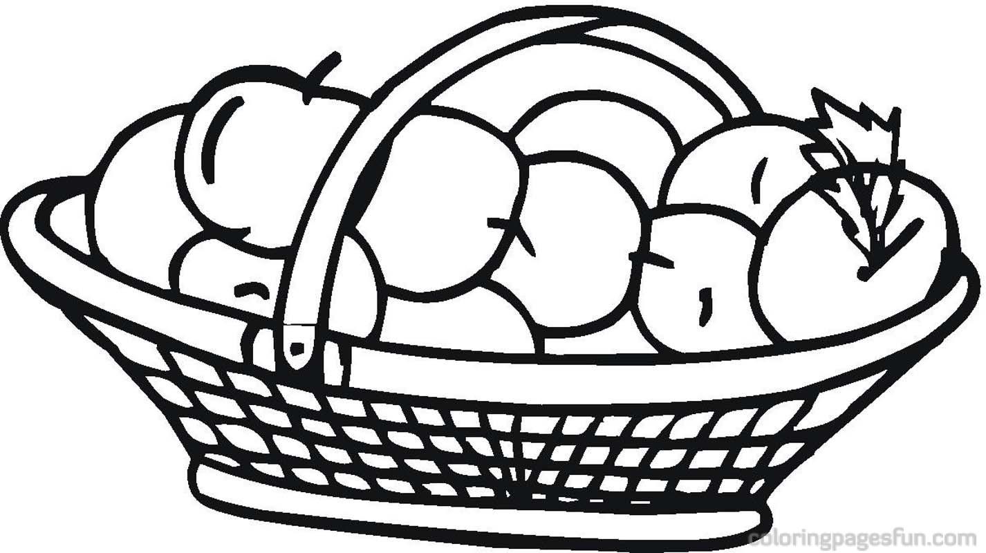 Apple basket clipart bay 2.