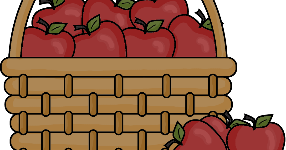 HD Apples In Basket Clipart Png.