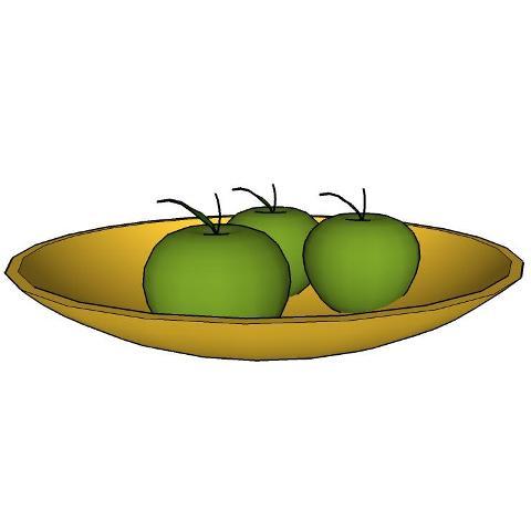 apples plate 3D Model.