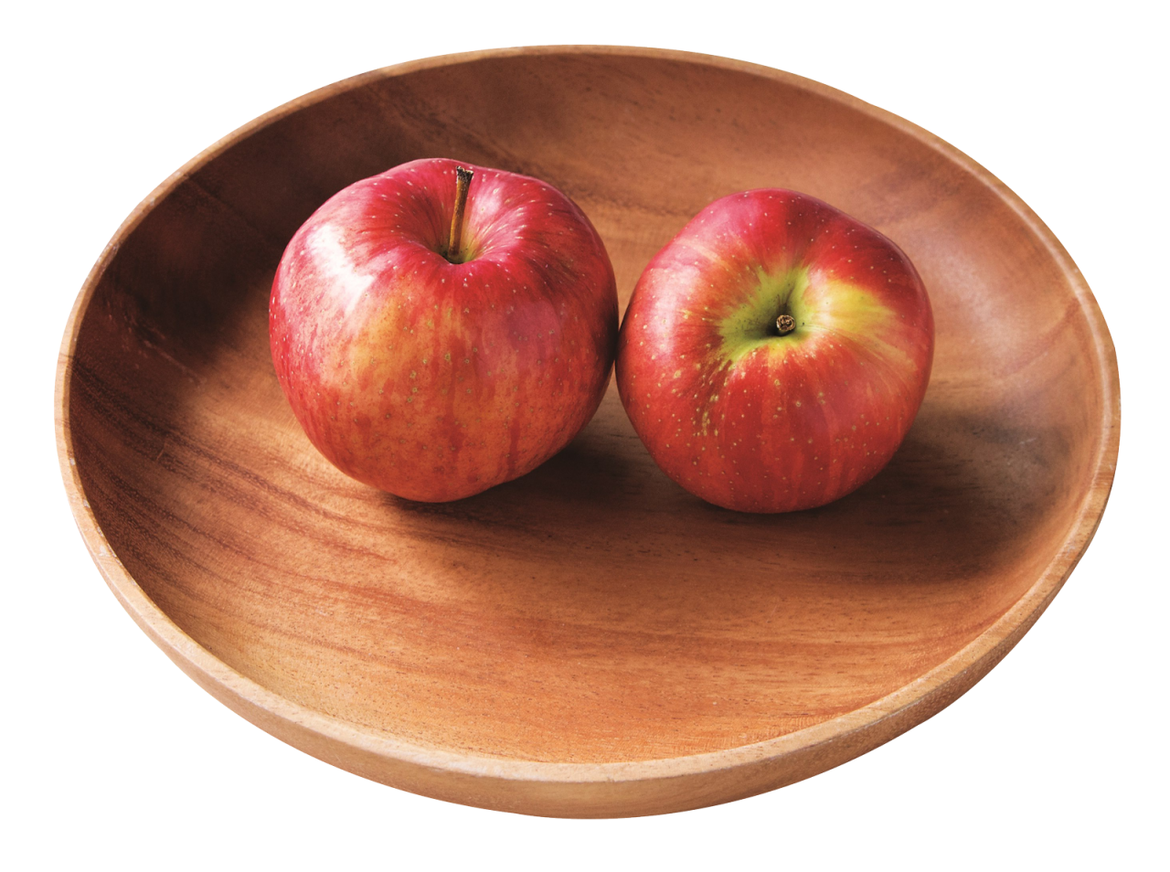 Two Red Apples in Plate PNG Image.