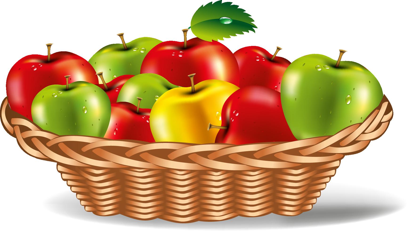 Apple Plate Vector Art.