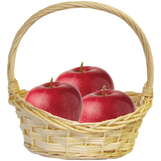 Apples In A Basket Clipart.