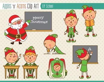 Elf School Clip Art.