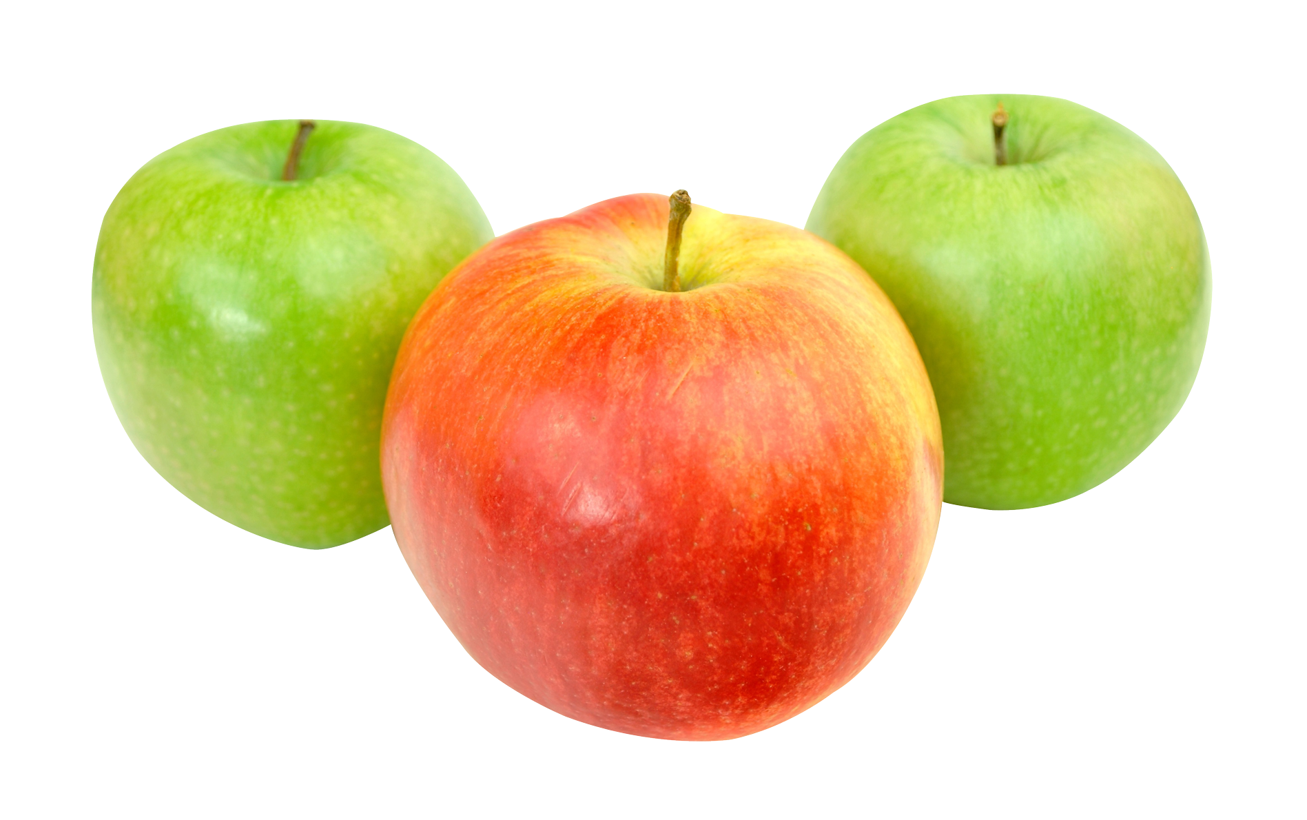 Red and Green Apples PNG Image.