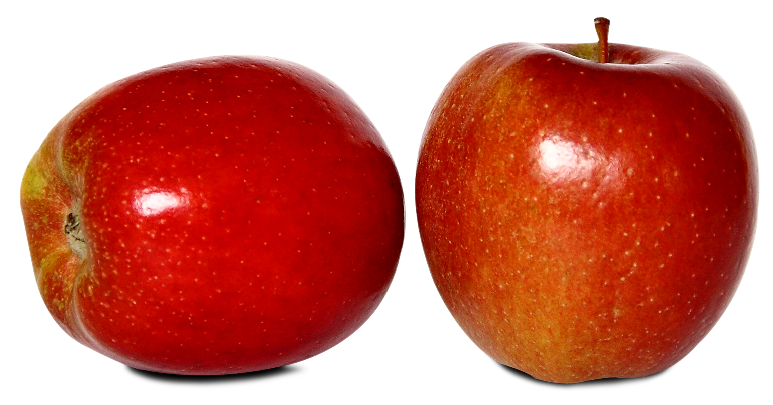 Two Red Ripe Apples PNG image.