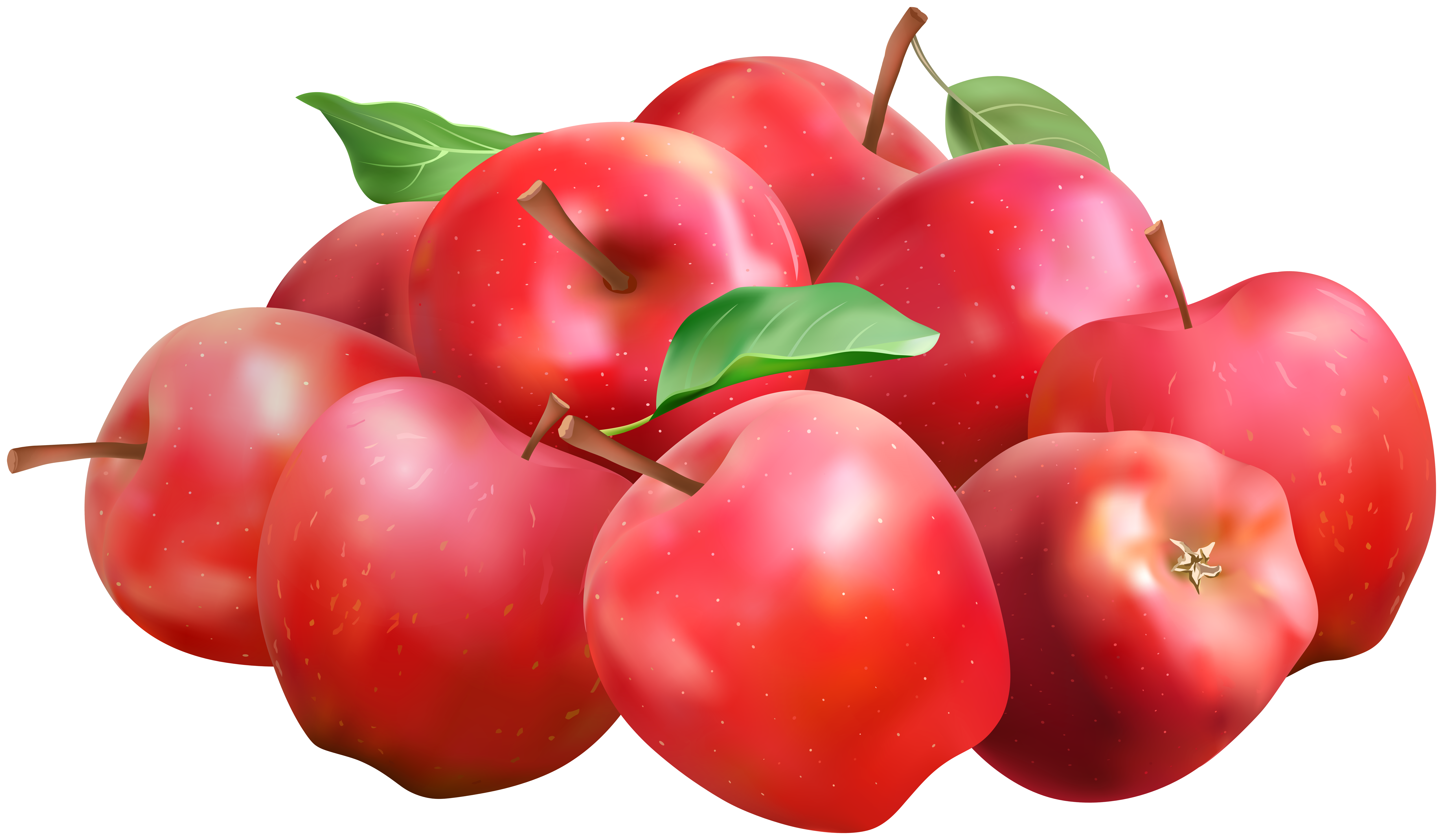 Red Apples PNG Clip Art Image.