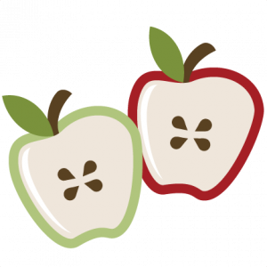 1905 Apples free clipart.