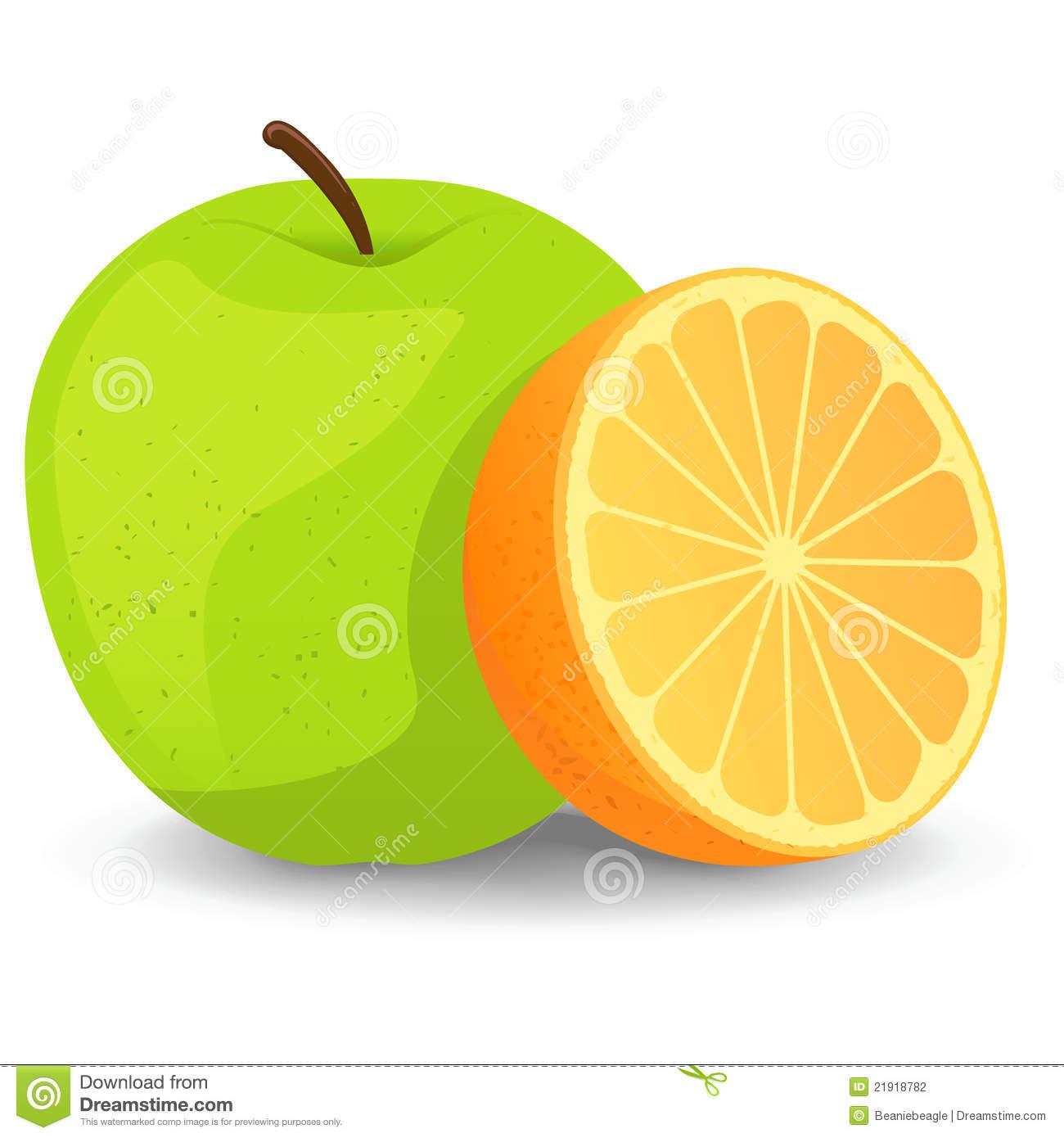 Apple And Orange Clipart.