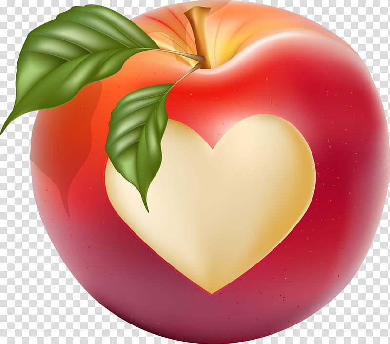 Heart Drawing, Hand drawn Love Apple transparent background.