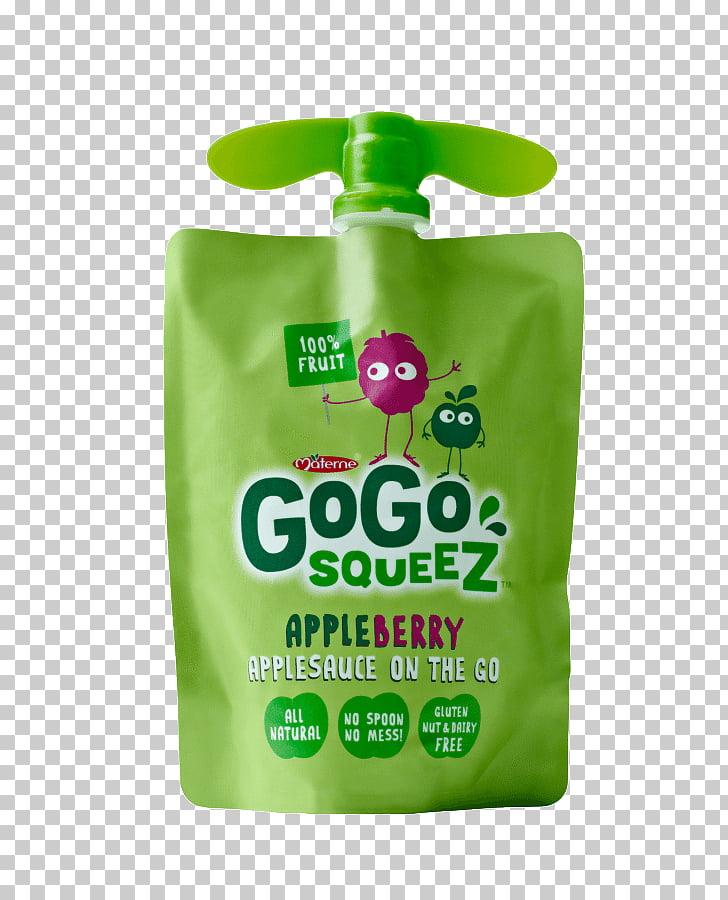 GoGo Squeez Apple sauce Juice Fruit cup Food, juice PNG.