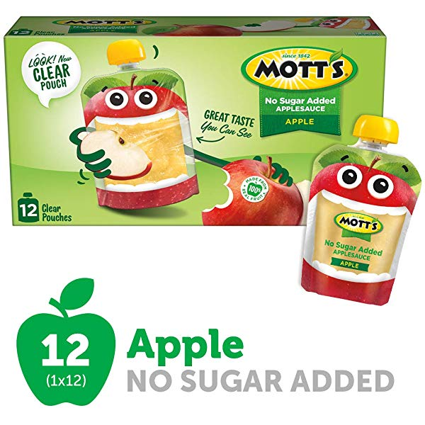 Amazon.com : Mott\'s No Sugar Added Applesauce, 3.2 Ounce.
