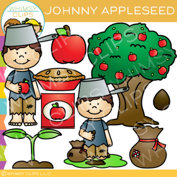 Johnny Appleseed Clip Art.