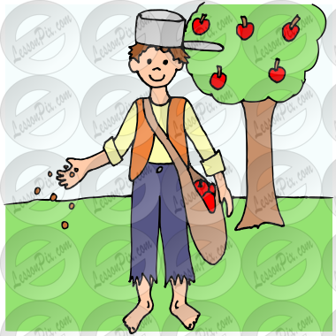 Johnny Appleseed Picture for Classroom / Therapy Use.