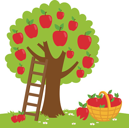 Clip art apple tree.